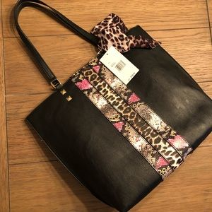 Betsey Johnson Large Tote Leopard and Snake